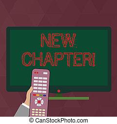 controle, colora fotografia, mente, infront, seu, ultimately, escrita, nota, pc, segurando, novo negócio, mostrando, screen., mão, chapter., metas, largo, remoto, criado, showcasing, começar, algo
