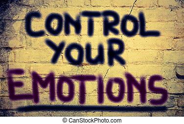 controle, conceito, seu, emoções