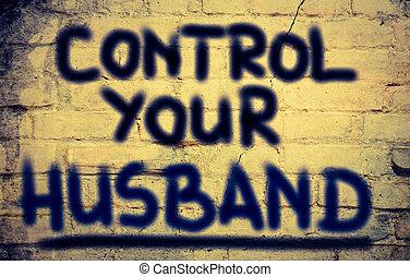 controle, conceito, seu, marido