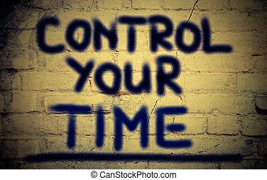 controle, conceito, seu, tempo