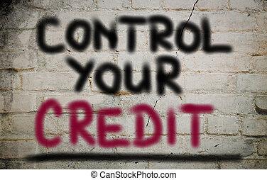 controle, crédito, conceito, seu