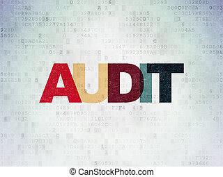 controle, financiën, papier, achtergrond, digitale , data, concept: