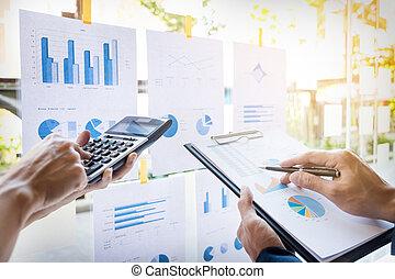 controle, financieel, het berekenen, zakelijk, inkomsten, controleren, concept., of, rapport, balance., intern, vervaardiging, inspecteur, secretaresse, dienst, document., man