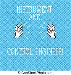 controle, industriebedrijven, tekst, handgeklap, meldingsbord, techniek, engineer., instrument, seamless, minuscuul, uitrusting, circles., foto, conceptueel, het tonen, automatisering, handen, hu, pictogram, geluid, analyse, tekening