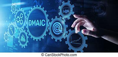 controle, industriebedrijven, zakelijk, proces, analyseren, dmaic, mager, verbeteren, optimisation, maatregel, productiewerk, sigma, zes, definiëren