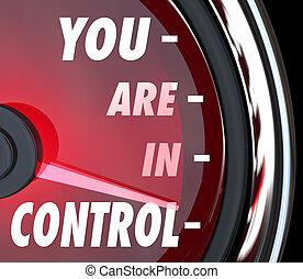 controle, kracht, macht, beheren, toekomst, u, beheersen, ...