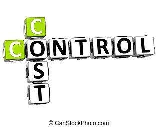 controle, kruiswoordraadsel, kosten, 3d
