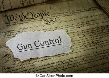 controle, manchete, arma
