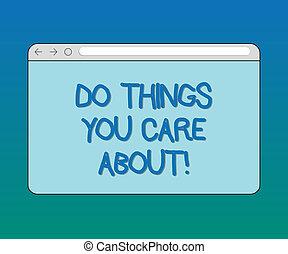controle, motivação, conceito, texto, ações, em branco, seu, monitor, coisas, fazer, oriented, expedir, progresso, tu, desejos, tela, space., significado, about., cuidado, barzinhos, letra, trás