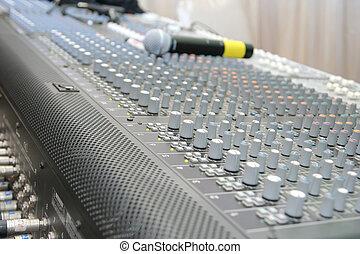 controle, muziek, plank