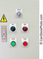 controle, panel.