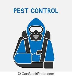 controle, peste, protetor, exterminador, paleto