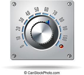 controle, regelaar, knop, elektronisch, analoog