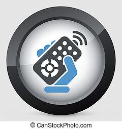 controle, remoto, ícone
