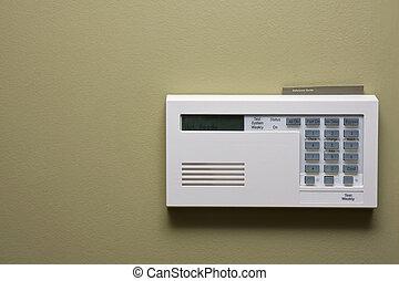 controle, segurança lar, painel