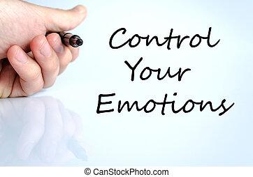 controle, texto, conceito, seu, emoções