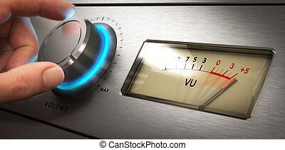 controle volume, problema, ouvindo