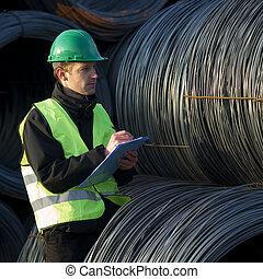 controlelijst, draad, supervisor, kabel