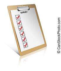 controlelijst, onderzoeken; inspecteren;