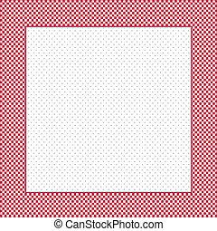 controleren, frame, polka punt, achtergrond