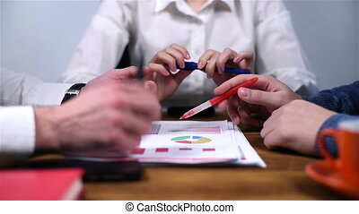 controleren, rapport, financieel, medewerker