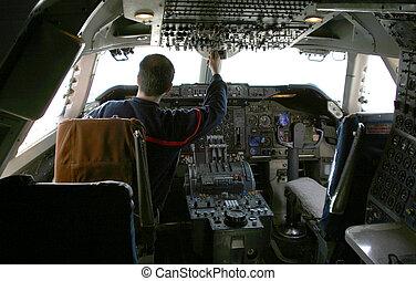 controles, piloto