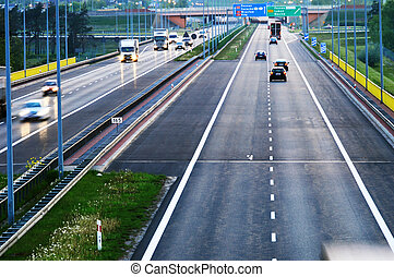 Controlled-access highway in Poznan, Poland