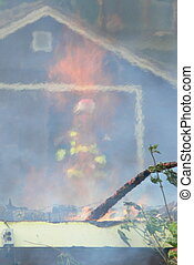 Controlled burn - An increadible image of a firefighter...
