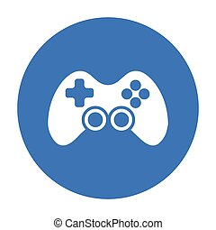 Controller black icon. Illustration for web and mobile design.