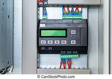 Controller or logic control relay in electrical Cabinet.