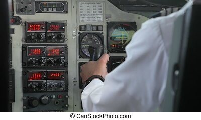 Controlling a small aircraft in the flight deck