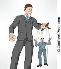 Controlling business puppet concept - Conceptual...