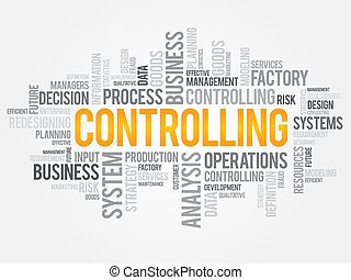 Controlling word cloud, business concept