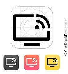 controllo, icon., vettore, remoto, illustration.