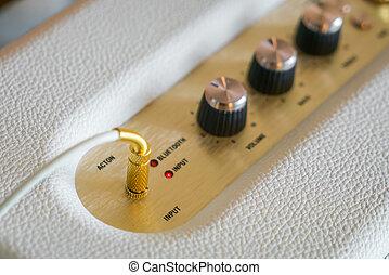controllo, manopola, hi-fi, amplificatore, volume