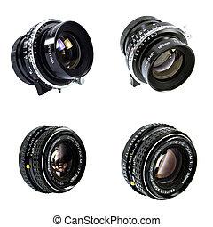 controllo, manuale, lente, macchina fotografica, vecchio