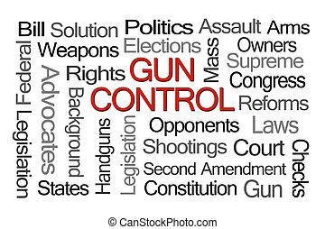 controllo, parola, fucile, nuvola, leggi