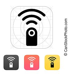 controllo, remoto, icon., vettore, illustration.