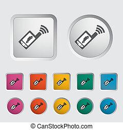controllo, remoto, icona