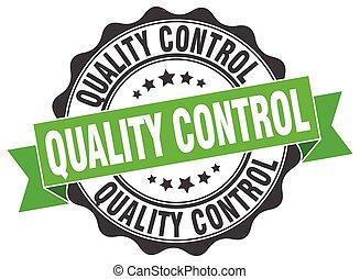 controllo, segno., stamp., qualità, sigillo