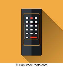 controllo, vettore, remoto, retro, icona
