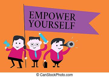 controllo, vita, concetto, parola, affari, testo, autorizzare, scrittura, yourself., regolazione obiettivi, positivo, scelte, presa