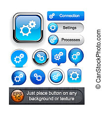 Controls high-detailed web button collection. - Controls ...