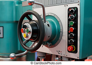 controls of a drilling and milling machine