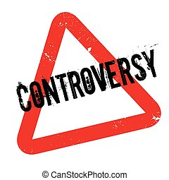 Controversy rubber stamp. Grunge design with dust scratches. Effects can be easily removed for a clean, crisp look. Color is easily changed.