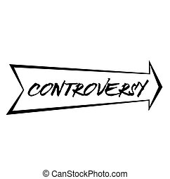 CONTROVERSY stamp on white background. Stickers labels and stamps series.
