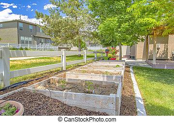 Contructed backyard grow beds