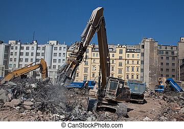Contruction dismantling machine