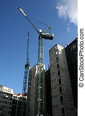 contruction, gratte-ciel, site