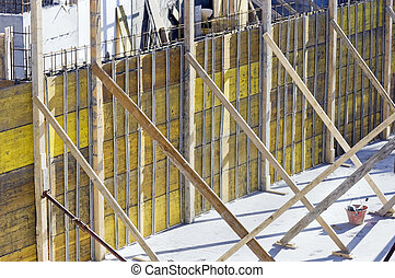 Close up at a part of construction site